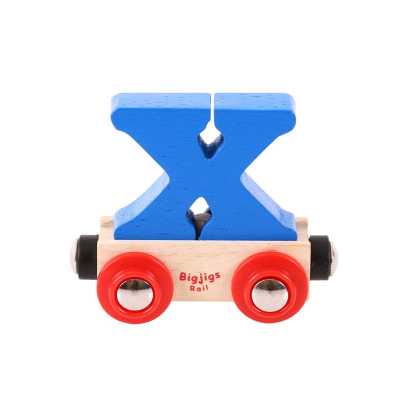 Bigjigs Rail vagónek dřevěné vláčkodráhy - Písmeno X