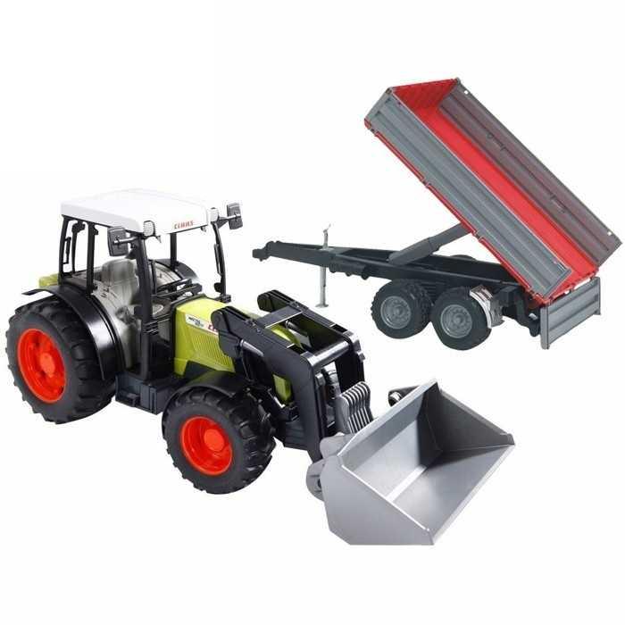 Bruder Traktor Claas Nectis 267F s nakladačem přívěsem