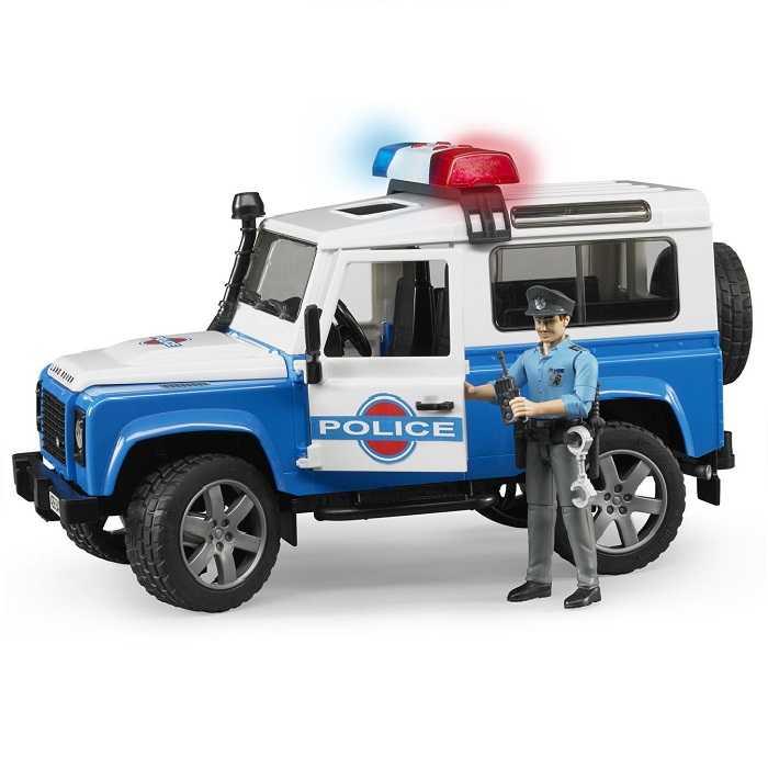 Bruder - Land Rover policie s figurkou