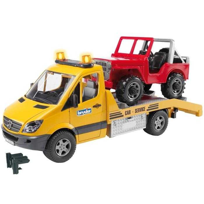 Bruder MERCEDES BENZ Sprinter odtah + Jeep