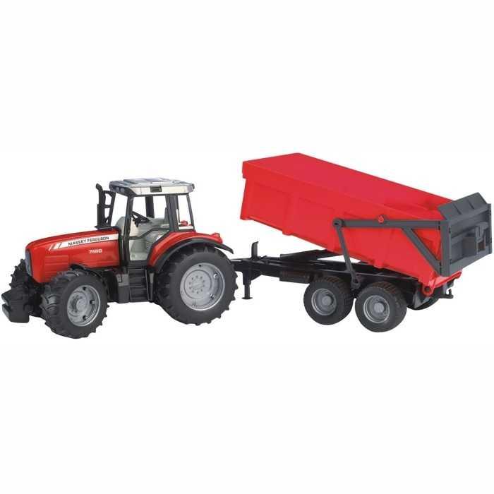 Bruder Traktor MAS.  FERUSON.+ skl. vůz červený