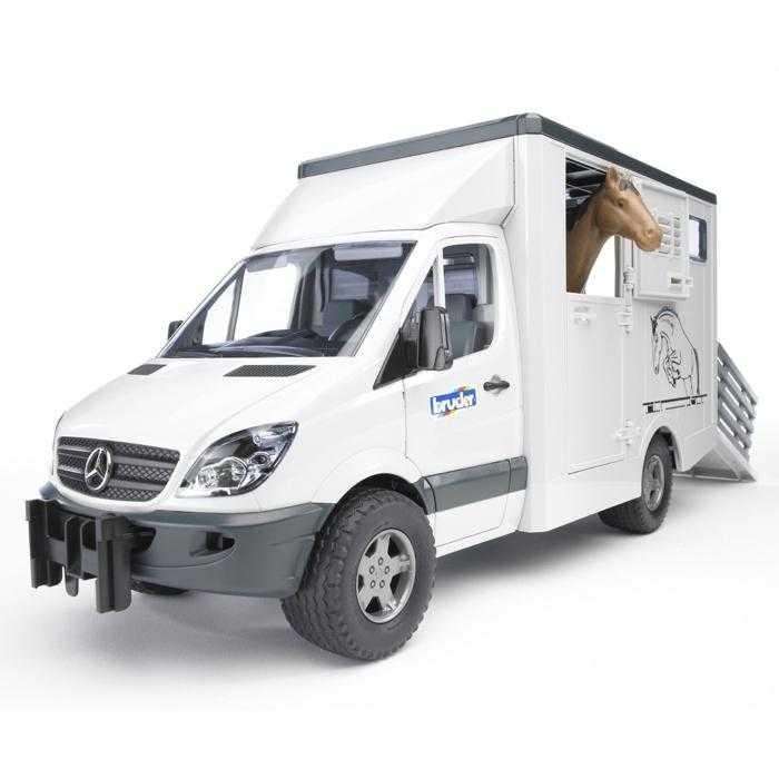 Bruder MERCEDES BENZ Sprinter přepravník na koně