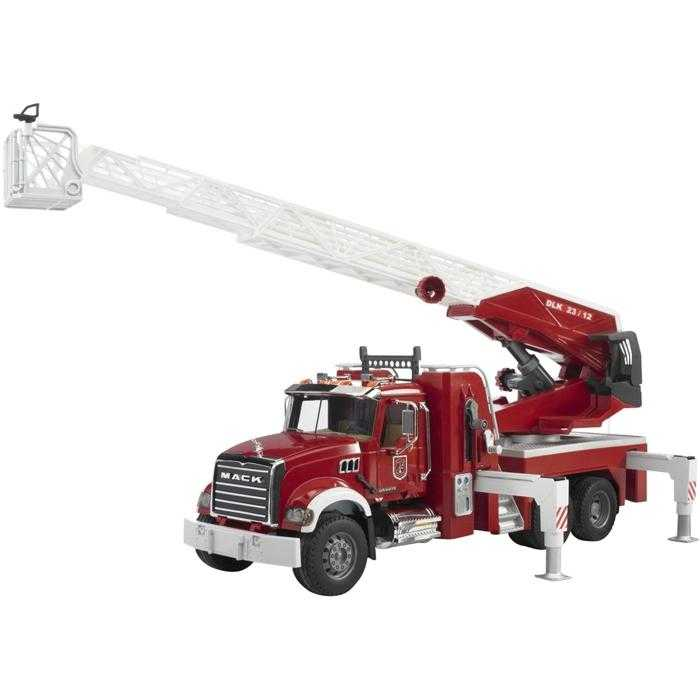Bruder - Nákladní auto MACK Granit - požární žebřík