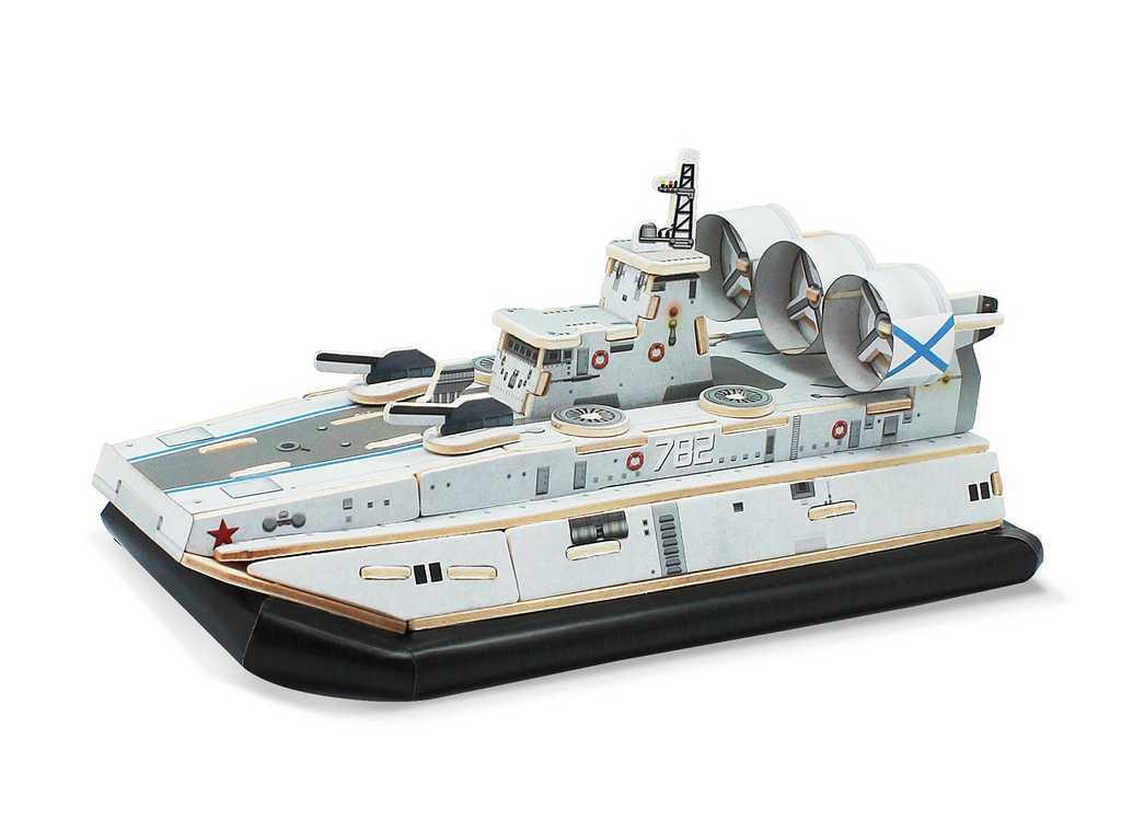 RoboTime Dřevěná skládačka útočné vznášedlo Zubr class LCAC