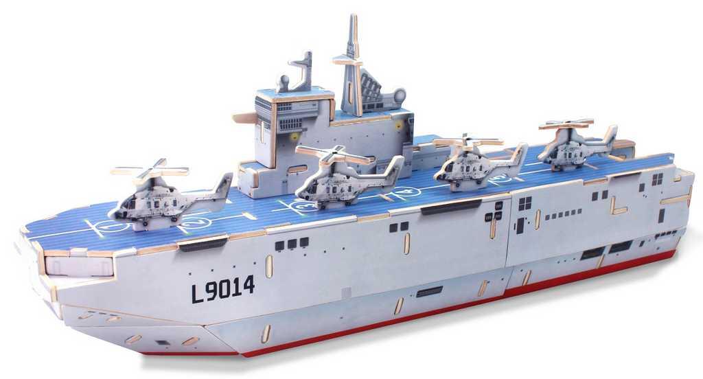 RoboTime Dřevěná vrtulníková útočná loď Mistral