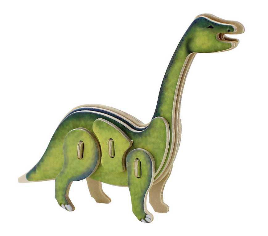 Dřevěné skládačky - sřední 3D puzzle - Brontosaurus