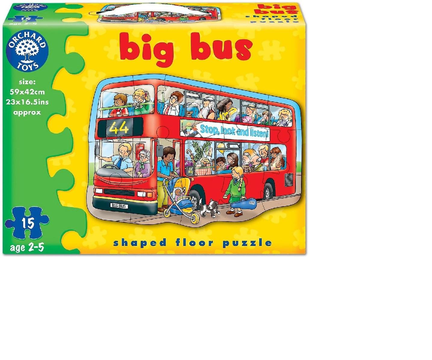 Orchard toys - Velké puzzle autobus 15 dílků