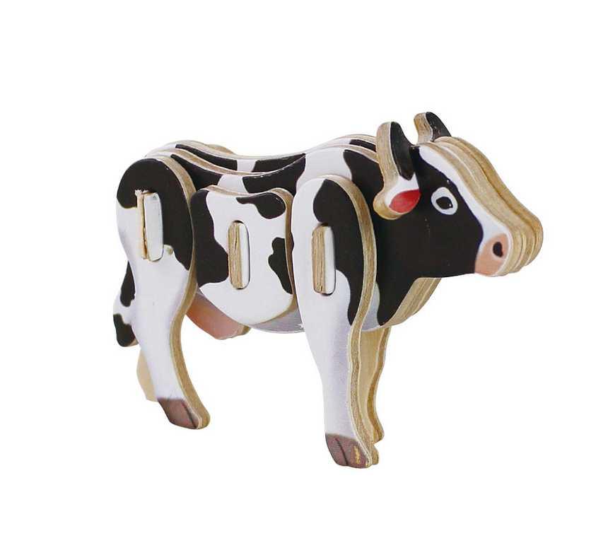 Dřevěné skládačky - sřední 3D puzzle - Kráva