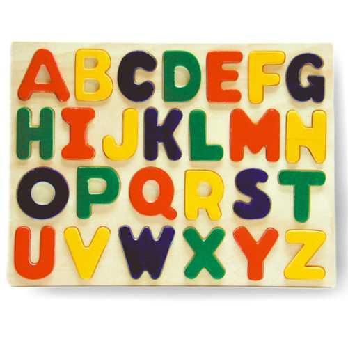 Dřevěné hračky - Vkládací puzzle - Abeceda