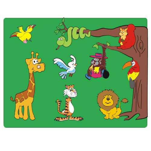 Dřevěné vkládací puzzle zvířata