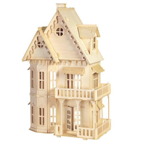 Woodcraft Dřevěné 3D puzzle Gotický dům