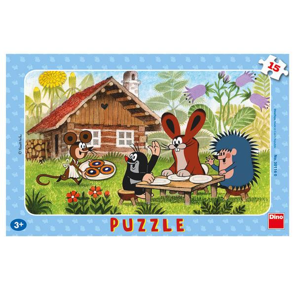 Dino Puzzle Krtek na návštěvě 15 dílků
