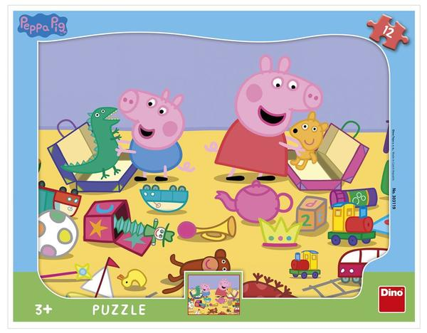 Dino Puzzle Peppa Pig si hraje - tvary 12 dílků