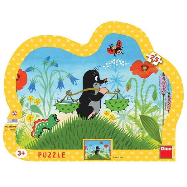 Papírové puzzle 25 dílků Krteček