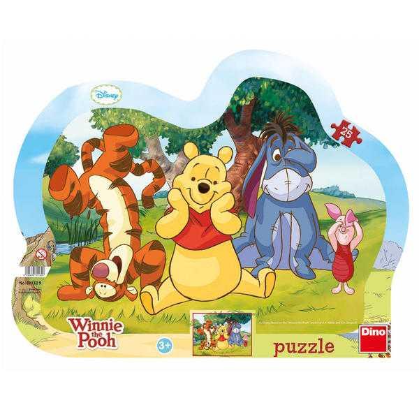 Dino Papírové puzzle schovávaná s medvídkem PÚ 25 dílků