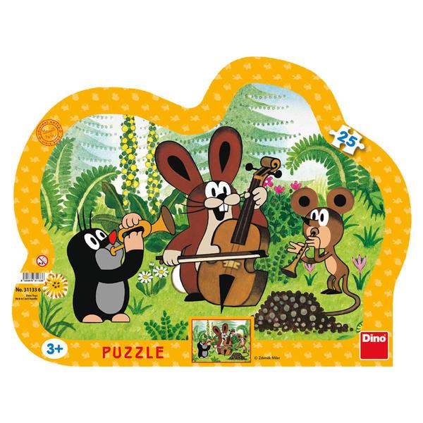 Dino Puzzle Krtek muzikant 25 dílků