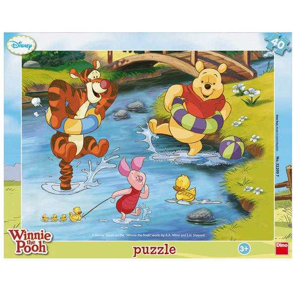 Papírové puzzle 40 dílků medvídek PÚ vodní radovánky