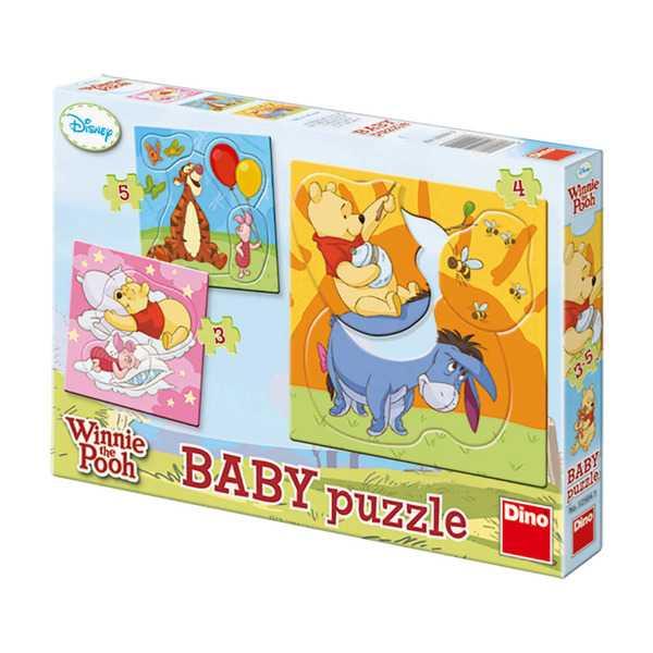 Papírové puzzle 2-5 dílků Medvídek PÚ