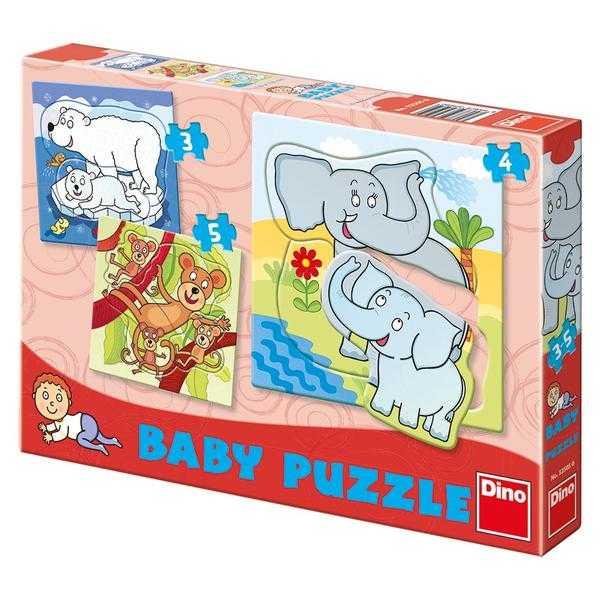 Papírové puzzle 2-5 dílků ZOO