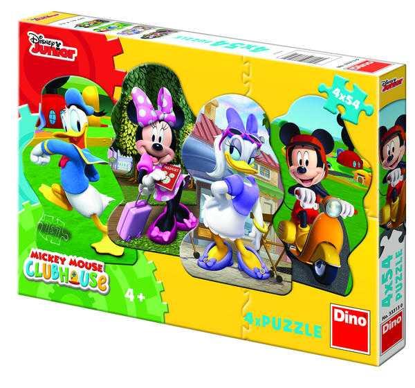 Papírové puzzle 4x54 dílků MICKEY a kamarádi