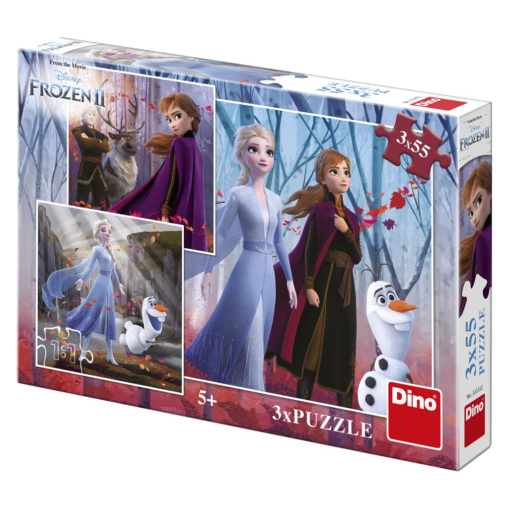 Dino Puzzle Frozen II 3x55 dílků