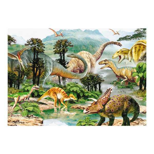 Papírové puzzle 100 XL dílků Život dinosaurů