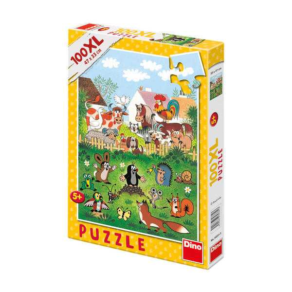 Papírové puzzle 100 XL dílků Krtek na statku