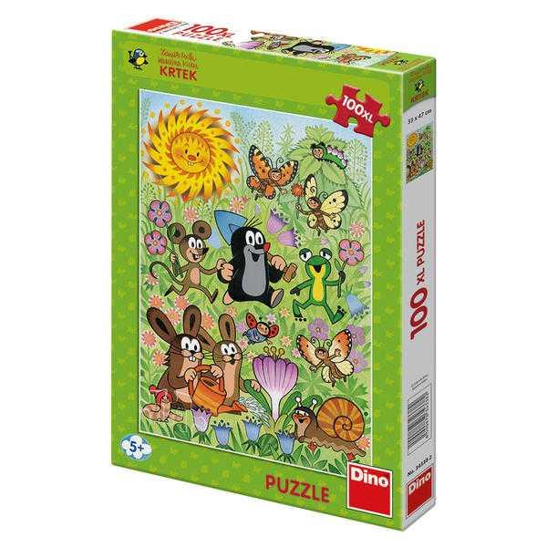 Papírové puzzle 100 XL dílků Krtek a jarní den