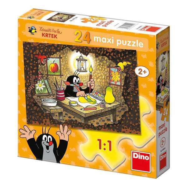 Dino Papírové puzzle maxi Krteček maluje 24 dílků