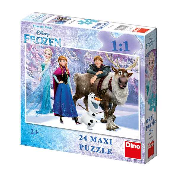Papírové puzzle 24 dílků maxi FROZEN Elza a přátelé