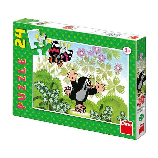 Papírové puzzle 24 dílků Krteček na bruslích