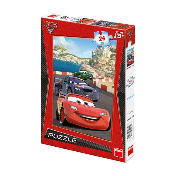 Papírové puzzle 24 dílků CARS 2 na riviéře
