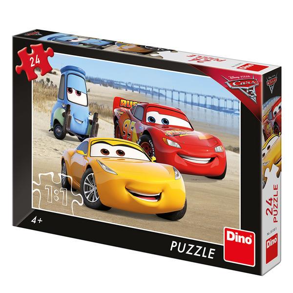 Dino Puzzle Cars 3: Na pláži 24 dílků