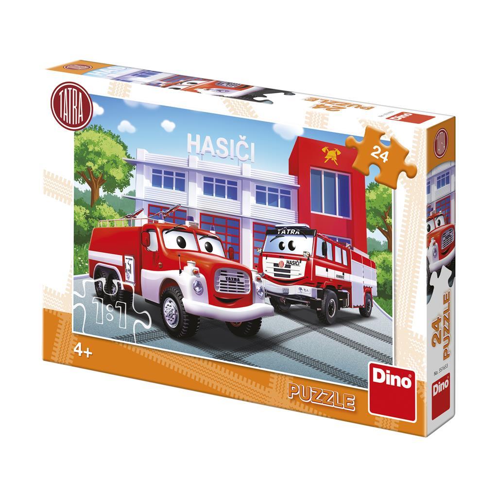 Dino Puzzle Hasiči 24 dílků
