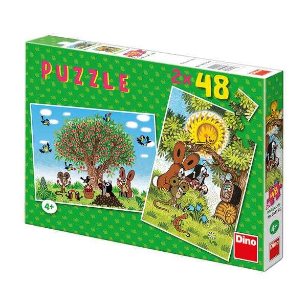 Papírové puzzle 2x48 dílků Léto s Krtečkem