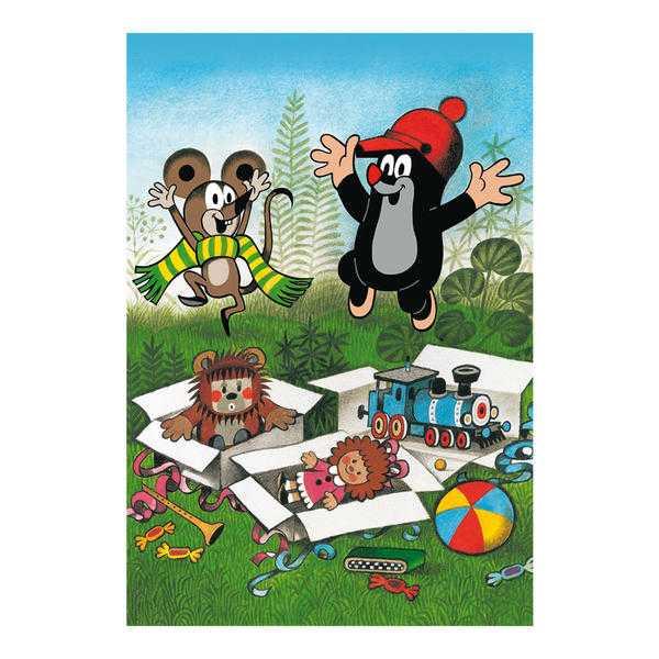 Papírové puzzle 2x48 dílků Krteček se raduje