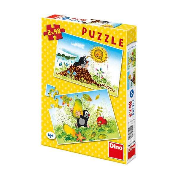 Papírové puzzle 2x48 dílků Krtkův svět