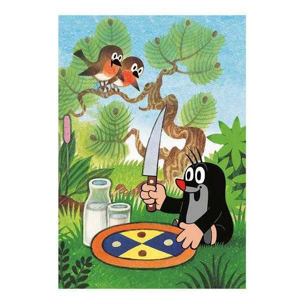 Papírové puzzle 2x48 dílků Krtečkovy dobroty