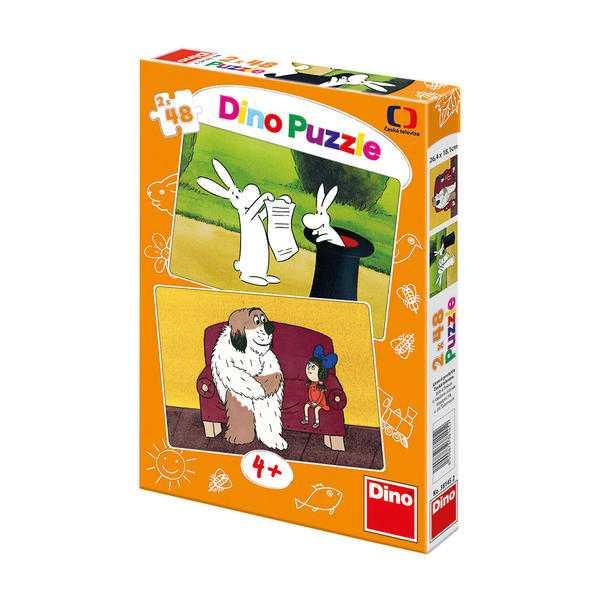 Papírové puzzle 2x48 dílků Večerníčky