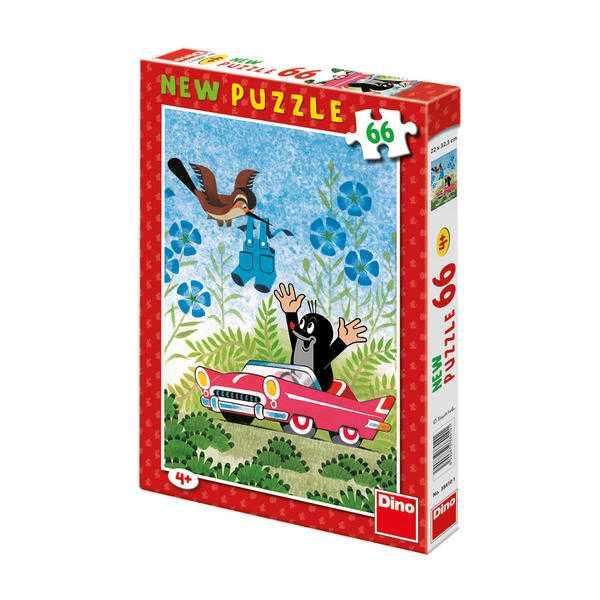 Papírové puzzle 66 dílků Krtek a autíčko