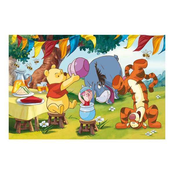 Papírové puzzle 66 dílků Medvídek PÚ den a noc