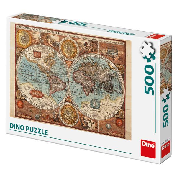 Dino Puzzle Mapa světa z roku 1626 - 500 dílků