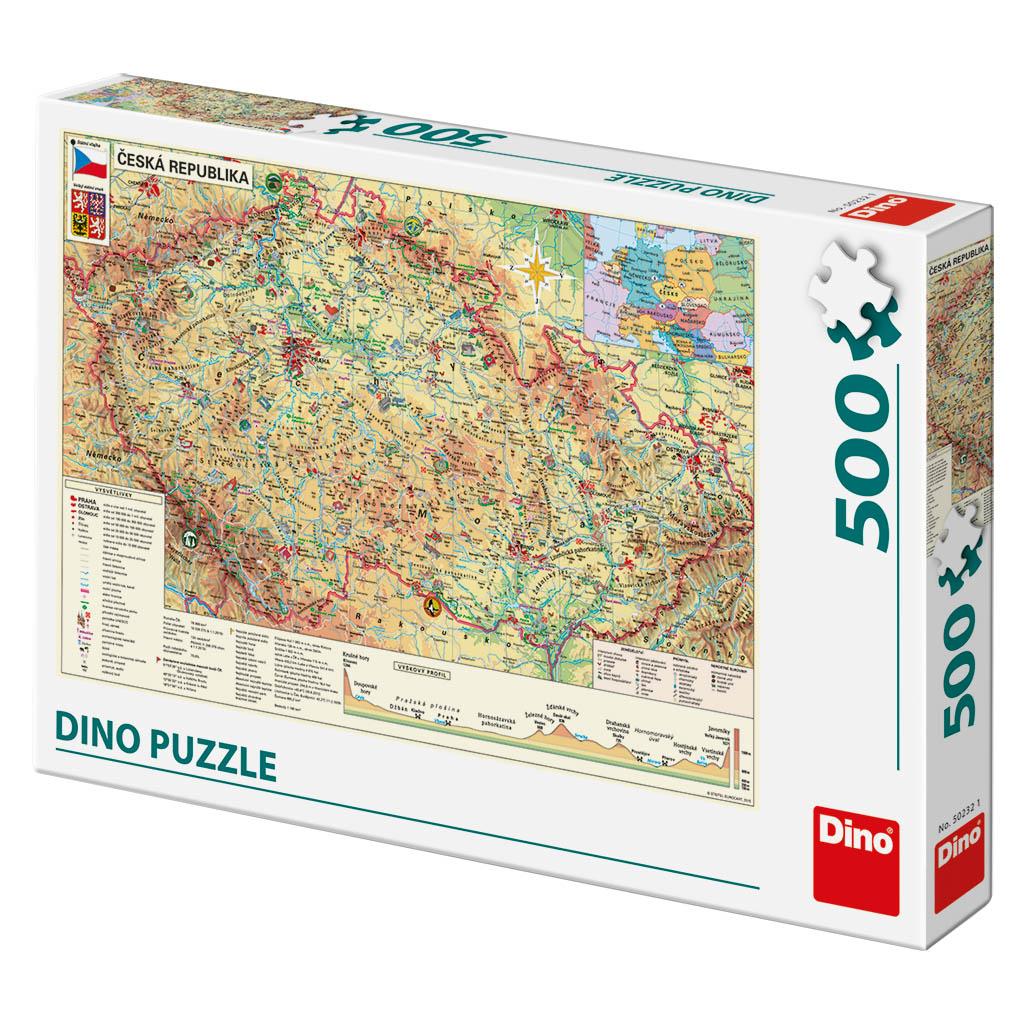 Dino Puzzle Mapa České republiky 500 dílků