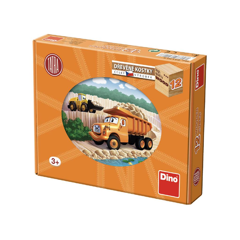 Dino Dřevěné kostky Tatra 12 ks
