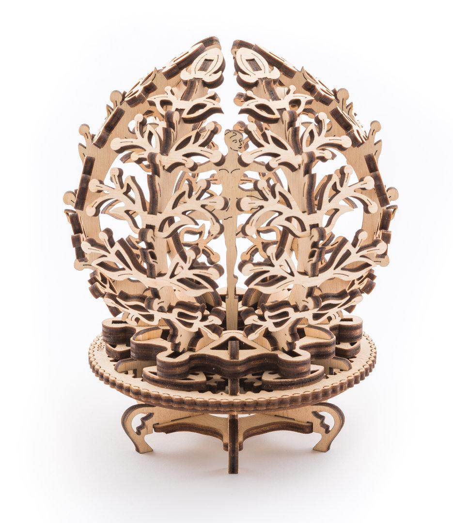 Ugears 3D dřevěné mechanické puzzle Květina