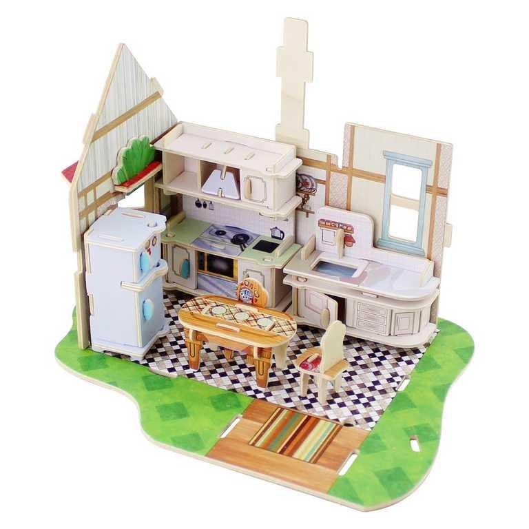Dřevěná skládačka Vila snů - kuchyň
