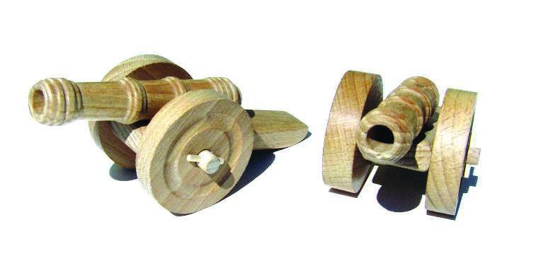 Ceeda Cavity - dřevěné hračky - Dřevěné dělo 1 ks