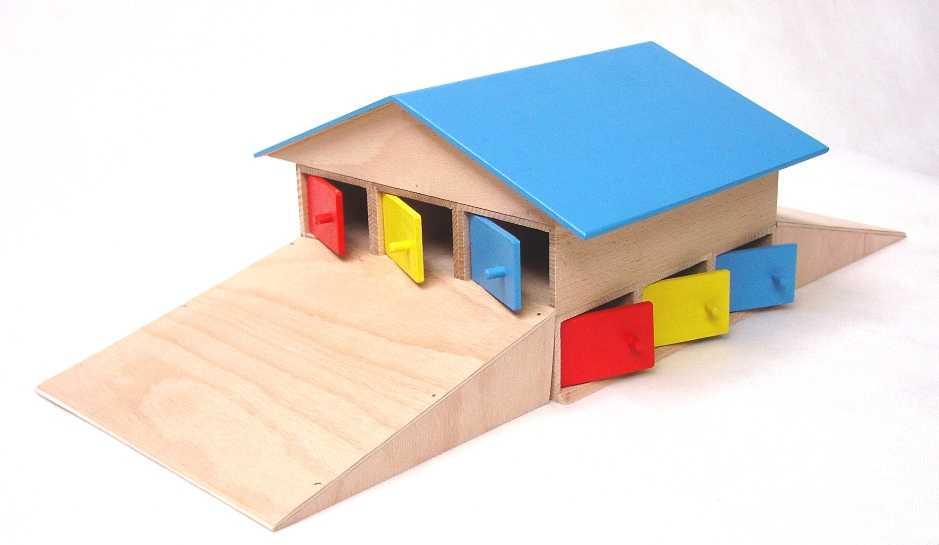 Dřevěná garáž pro 12 aut