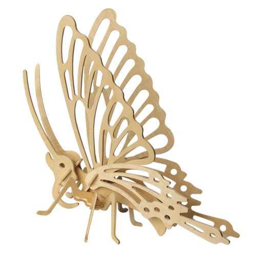 Woodcraft Dřevěné 3D puzzle motýl