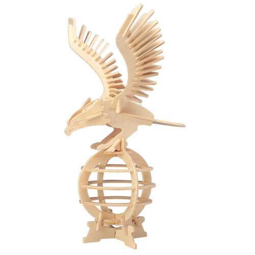 Woodcraft Dřevěné 3D puzzle orel